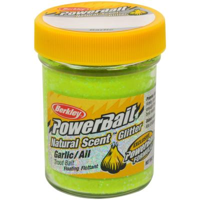 Berkley Natural Scent Trout Bait glitter Garlic Chartreuse