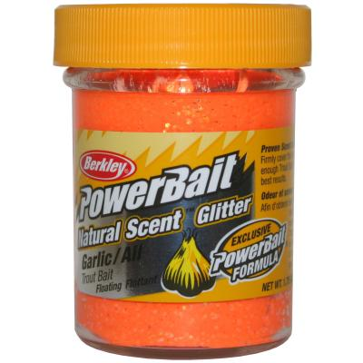 Berkley Powerbait Dough Natural Scent Garlic Fluo Orange