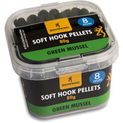 Browning Soft Hook Pellets 8 mm  Green Mussel, 80 g