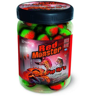 Radical Baits Red Monster Neon Pop Ups Ø16mm,Ø20mm 75g