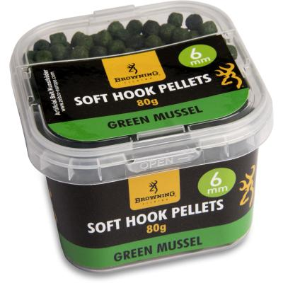 Browning Soft Hook Pellets 6 mm15cmGreen Mussel, 80 g