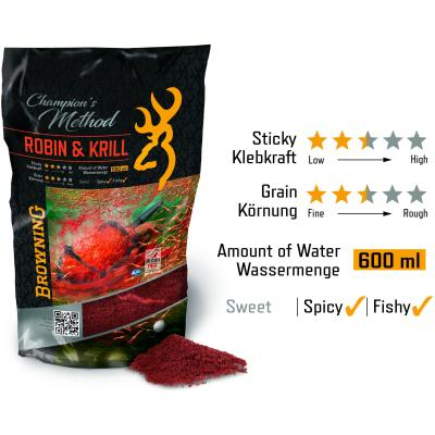 Browning Champion's Method Robin & Krill rot 1kg