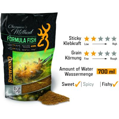 Champion's Method Formula Fish Natur Scopex Karamell 1kg