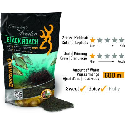 Browning Champion's Feeder Mix Black Roach schwarz 1kg