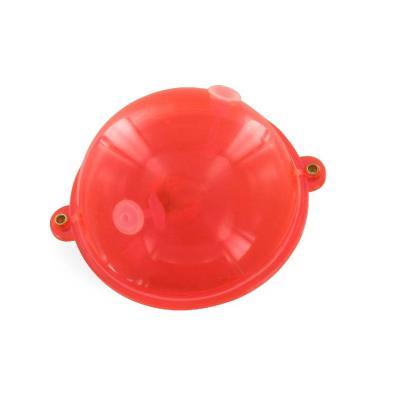Boule à eau JENZI avec œillets métalliques, rouge / transparent, Buldo d'origine, 30,0 g