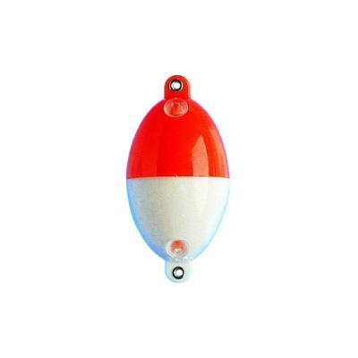 Boule à eau JENZI ovale avec œillets métalliques, rouge / blanc, Buldo d'origine, 30,0 g