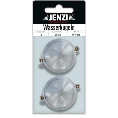 Boule d'eau JENZI ronde avec 2 oeillets métalliques trans 35mm