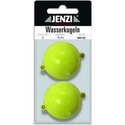 Boule d'eau JENZI ronde avec 2 oeillets métalliques 35mm jaune