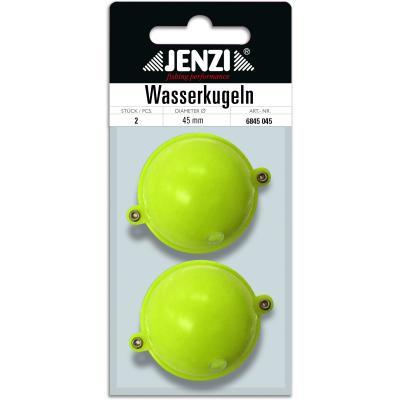 Boule d'eau JENZI ronde avec 2 oeillets métalliques 45mm jaune
