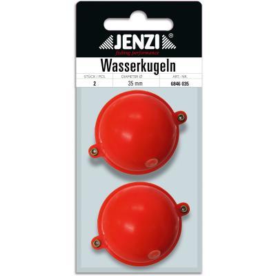 Boule d'eau JENZI ronde avec 2 oeillets métalliques rouge 35mm