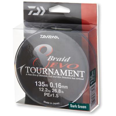 Daiwa Tournament 8 Braid Evo dunkelgrün 0.12mm 8.6kg 300m