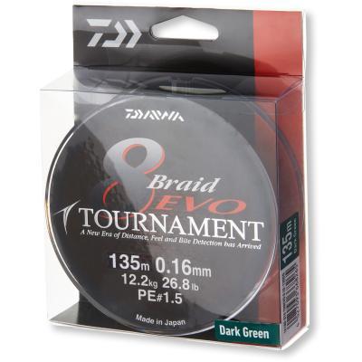 45kg Daiwa Tournament 8 Braid 0,45mm 300m Multicolour Geflochtene Schnur