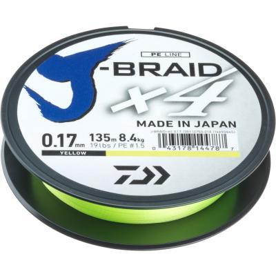 Daiwa J-Braid X4E 0.13mm-135m yellow