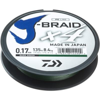 Daiwa J-Braid X4E 0.13mm-135m d.-gr.