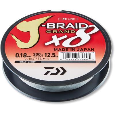 Daiwa J-Braid Grand X8 light gray 0.18mm 12.5kg 135m