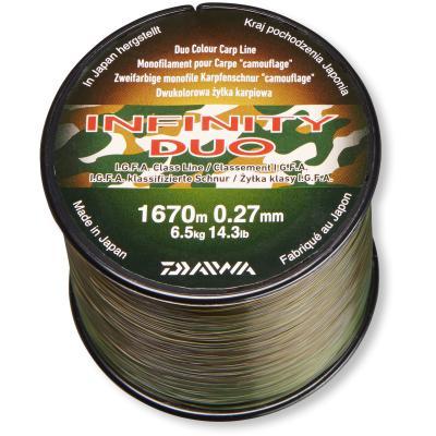 Monofil-Karpfenschnur Daiwa Infinity Duo Carp grün-schwarz 0.27mm 6.5kg 3000m