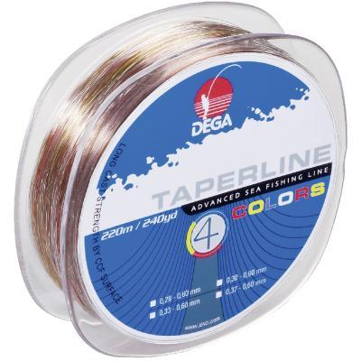 DEGA Taper Line chalk line 4-colored 0,37-0,60mm 220m