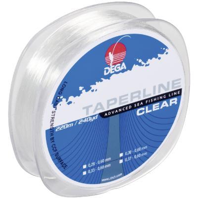 DEGA Taper Line chalk line, transparent 0,28-0,60mm, 220m