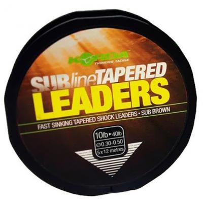 Korda Subline Tapered Leader 0.33-0.50mm