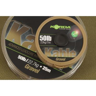 Korda Kable Leadcore - 20m Gravel