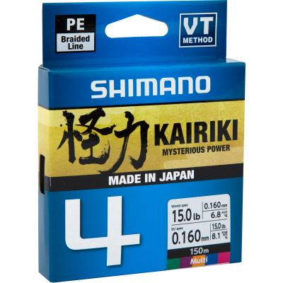 Shimano Kairiki 4 300M Multi Couleur 0,100mm / 6,8Kg