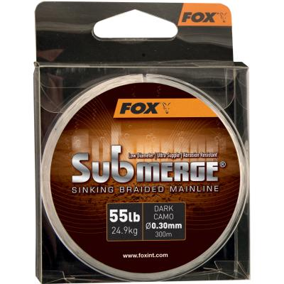FOX Submerge Dark Camo Sinking Braid x 600m 0.20mm 40lb/18.1kg