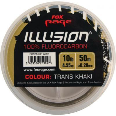 FOX Rage Illusion Fluorocarbone trans kaki 0.25mm 3.66kg / 8lb x 50m