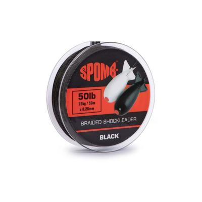 Spomb braided leader 22kg / 50lb 50m BLACK