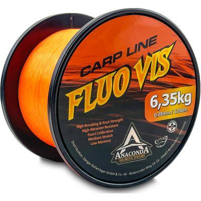 Anaconda Fluovis Ligne Carpe Orange 1.200m / 0,26mm
