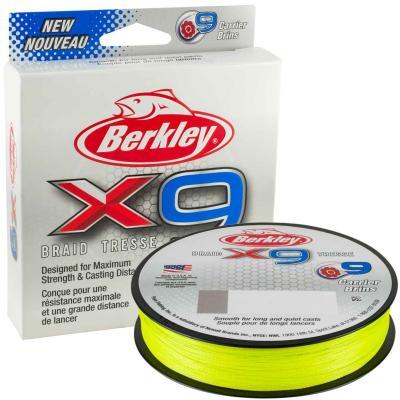 Berkley X9 Braid Fluro Green 20lb 17.0kg 300m 0.17mm
