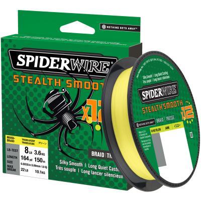 SpiderWire Stealth Smooth12 0.11MM 150M 10.3K Hi-Vis Yellow