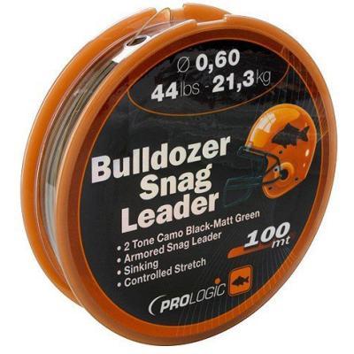 Prologic Bulldozer Snag Leader 100m 44lbs 21.3kg 0.60mm Camouflage