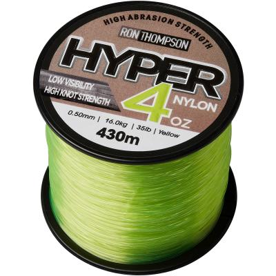 Ron Thompson Hyper 4Oz Nylon 0.60mm 300M 19.7Kg 43Lbs Flour Yellow