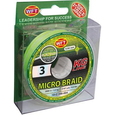 WFT Micro Tresse KG chartreuse 150m 3Kg 0,04
