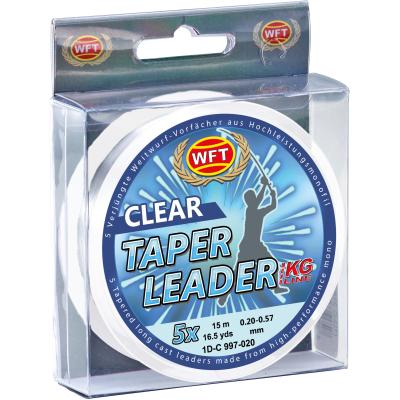 WFT Taper Leader 0,28-0,57 clear 5x15m