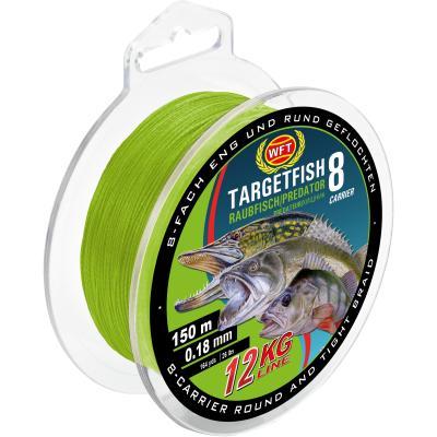 WFT TF8 predatory fish chartreuse 150m 20Kg 0,22