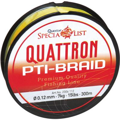 Quantum 0.12mm, 300m, Quattron PTI cord, yellow