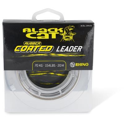 Black Cat Rubber coated Leader 70 kg