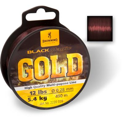 Browning 0,27mm Black Magic® Gold Mono 490m 5,70kg,12,60lbs dunkelbraun