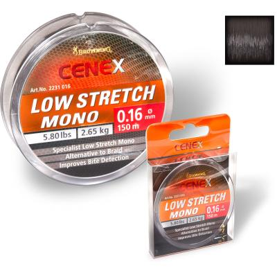 Browning 0,26mm Cenex Low Stretch Mono 150m 7,15kg,15,70lbs schwarz