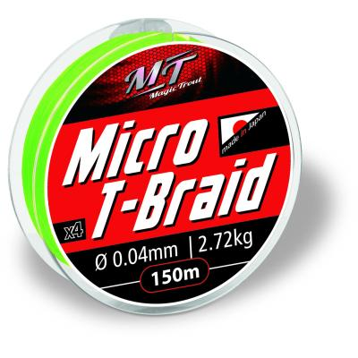Magic Trout Ø0,06mm Micro T-Braid 150m 4,54kg,10lbs rot