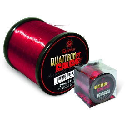 Quantum 0,22mm Quattron Salsa 3000m 4,50kg rouge transparent