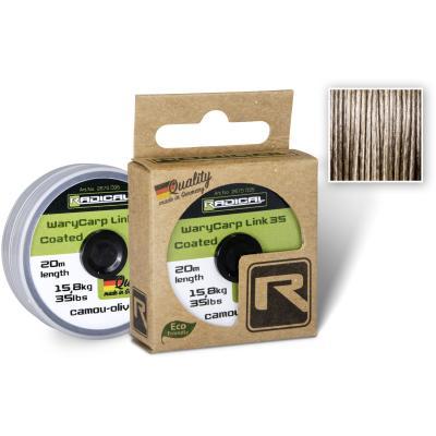 Radical WaryCarp Link Coated 35 L: 20m 15,8kg / 35lbs camou-olive