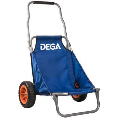DEGA trolley made of metal with solid rubber wheels, foldable