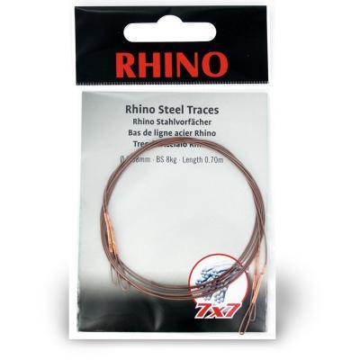 0,42mm Rhino steel leader 7x7 0,7m 12kg 2 pieces