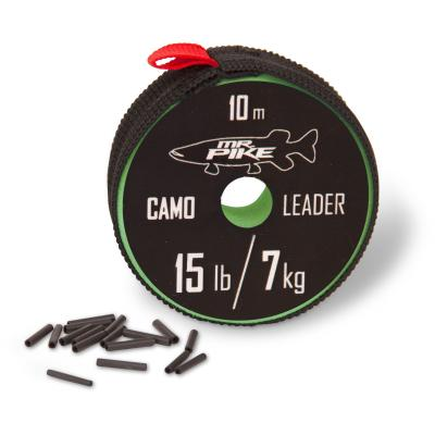 Quantum Mr. Pike Camo Coated Leader Material 10m 7kg camou