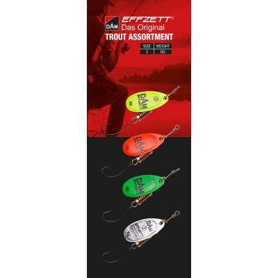EFFZETT Spinner Assortment Trout 4 St.