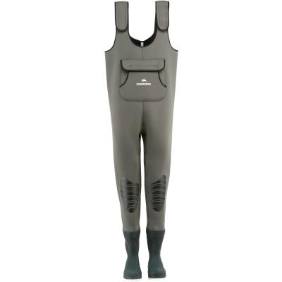 Cormoran neoprene waders with rubber boots (rubber profile) size 46/47