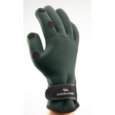 Cormoran neoprene gloves dark green / black size L.