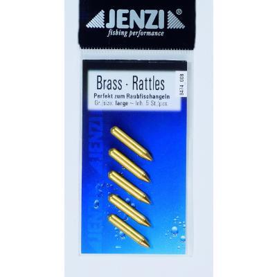 Hochets en verre JENZI, laiton, GR. L = env. 2,3 cm